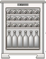 Вариант размещения 42 бутылок